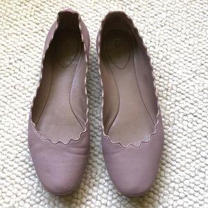Chloe Lauren flats, light purple, size 39